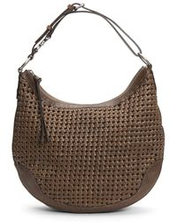 Frye Melissa Woven Scooped Leather Hobo - Brown