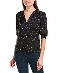 Rebecca Taylor Jacquard Silk-blend Top - Black
