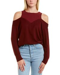 Monrow Cold-shoulder Sweater - Red