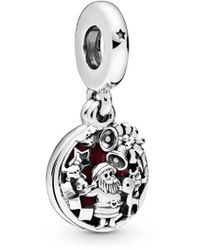 PANDORA Jewellery Silver Santa Love Peace Joy Dangle Charm - Metallic