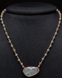 Argento Vivo - 18k Plated Gemstone Beaded Necklace - Lyst