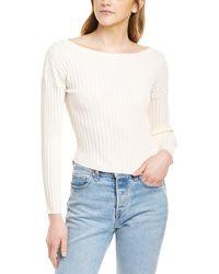 Line & Dot Olsen Cropped Jumper - White