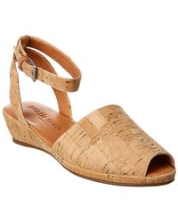 Gentle Souls Lily Cork Wedge Sandals - Natural