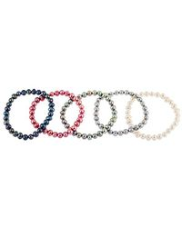 Splendid 6-7mm Freshwater Pearl Stretch Bracelet - Multicolor
