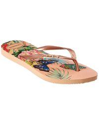 Havaianas Slim Tropical Flip Flop - Multicolor