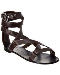 Giuseppe Zanotti Strappy Leather Sandal - Brown