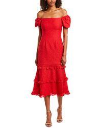Keepsake Higher Midi Dress - Red