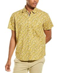 Thread & Cloth Mini Floral Woven Shirt - Yellow