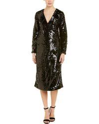 Ganni Sonora Wrap Dress - Black