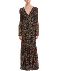 Catherine Malandrino - Silk Maxi Dress - Lyst