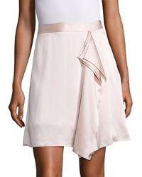 Public School Gina Draped Silk Skirt - Pink