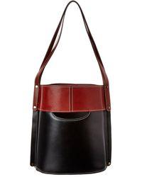 Chloé Aby Medium Bicolor Leather Bucket Bag - Black