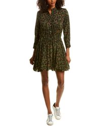 Zadig & Voltaire Drawstring Mini Dress - Green