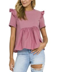 English Factory Knit Top - Pink