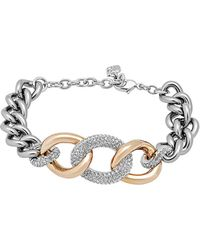 Swarovski - Crystal Bound Plated Chunky Chain Bracelet - Lyst