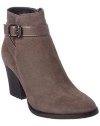 Aquatalia Farley Weatherproof Leather & Suede Bootie - Gray