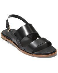 Cole Haan Flynn Leather Flat - Black