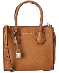 MICHAEL Michael Kors - Michael Kors Mercer Medium Leather Messenger Bag - Lyst