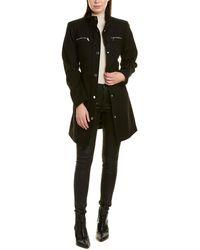 Vince Camuto Belted Wool-blend Coat - Black