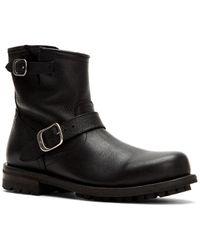 Frye Boyd Engineer Leather Boot - Black