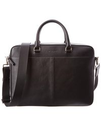 MICHAEL Michael Kors - Odin Large Leather Briefcase - Lyst