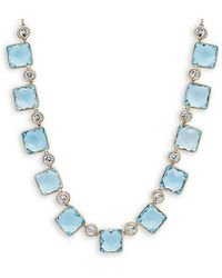 Saks Fifth Avenue - Topaz & 14k Charm Necklace - Lyst