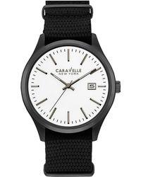 Caravelle NY Caravelle New York Men's Stainless Steel Watch - Black