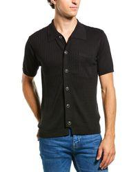 You As Harvey Silk-blend Bowling Shirt - Black