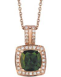 Le Vian - ® 14k Rose Gold 1.43 Ct. Tw. Diamond & Chrome Diopside Necklace - Lyst