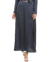 Keepsake Finders Keepers Fountain Midi Skirt - Blue