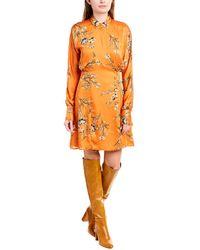 Equipment Harmon Dress - Orange