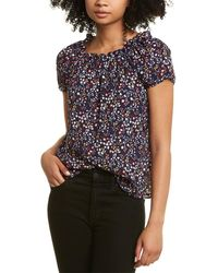 Cece By Cynthia Steffe Off-the-shoulder Floral Top - Black