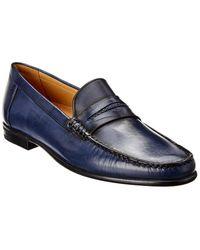 Mezlan Leather Loafer - Blue