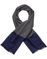 Hermès - Navy Silk & Angora-blend Muffler - Lyst