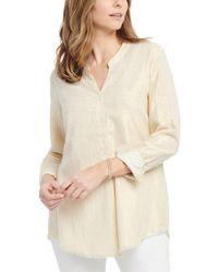 NIC+ZOE Honeybee Linen-blend Shirt - Natural