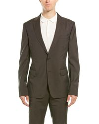Ermenegildo Zegna Z Zenga 2pc Wool Suit With Flat Pant - Black