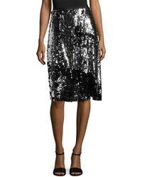 Manoush Sequin Trash Skirt - Black