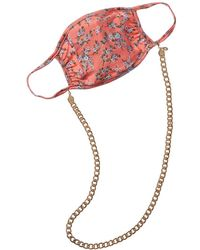 8 Other Reasons Maggie Cloth Face Mask With 18k Gold-plated Chain - Pink