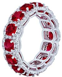 Diana M. Jewels . Fine Jewellery 18k 7.00 Ct. Tw. Diamond & Ruby Ring - Multicolour