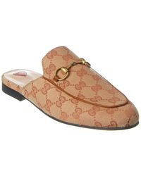 Gucci Princetown GG Canvas Mule - Brown