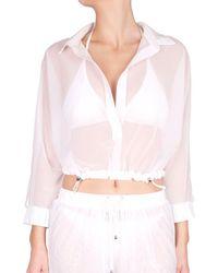 Shan Mia Pretaporter Cover-up Top - White