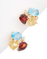 Rina Limor Vermeil 4.69 Ct. Tw. Gemstone Earrings - Multicolour
