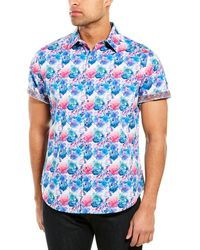 Robert Graham Bashan Classic Fit Woven Shirt - Blue