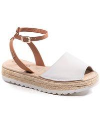 VISCATA Ciutadella Leather Sandal - White