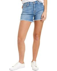 7 For All Mankind 7 For All Mankind High-waisted Short - Blue