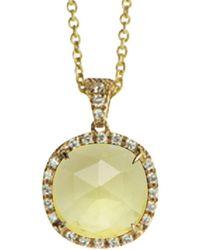 Marco Bicego Jaipur Color 18k 0.17 Ct. Tw. Diamond & Lemon Citrine Pendant Necklace - Metallic
