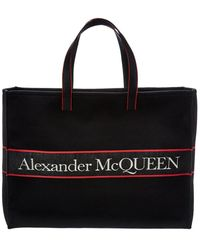 Alexander McQueen East/west Selvedge Canvas Tote - Black