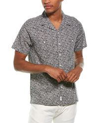 Onia Camp Pocket Linen-blend Shirt - Black