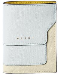 Marni Saffiano Leather Card Holder - Multicolour