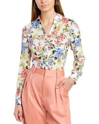 Alice + Olivia Eloise Silk Blouse - Green